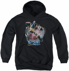Batman youth teen hoodie Batman Mech black