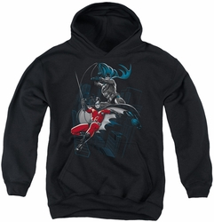 Batman youth teen hoodie Black And White black