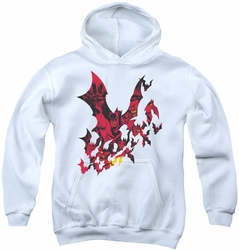 Batman youth teen hoodie Broken City white