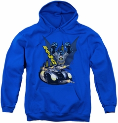 Batman youth teen hoodie By Air & By Land royal blue