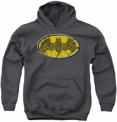 Batman youth teen hoodie Celtic Shield charcoal