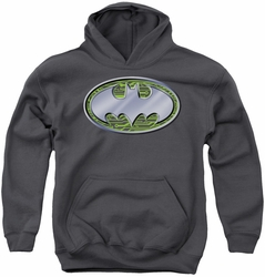 Batman youth teen hoodie Circuits Logo charcoal