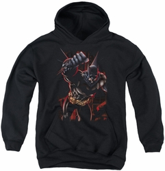Batman youth teen hoodie Crimson Knight black