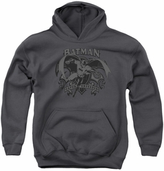 Batman youth teen hoodie Crusade charcoal