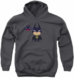 Batman youth teen hoodie Cute Batman charcoal