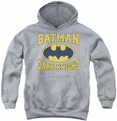 Batman youth teen hoodie Dark Knight Jersey athletic heather