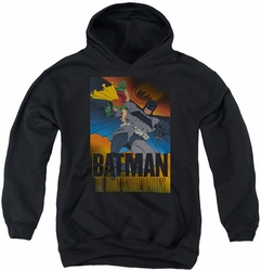 Batman youth teen hoodie Dark Knight Returns black