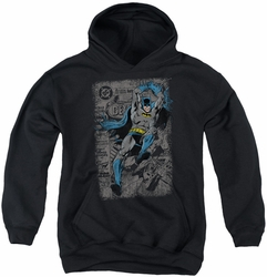Batman youth teen hoodie Detective #487 Distress black
