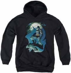 Batman youth teen hoodie Glow Of The Moon black