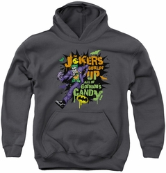 Joker youth teen hoodie Goblin Candy charcoal