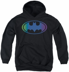 Batman youth teen hoodie Gradient Bat Logo black