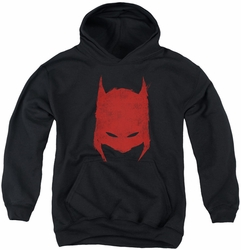 Batman youth teen hoodie Hacked & Scratched black
