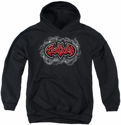 Batman youth teen hoodie Hip Hop Logo black