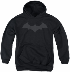 Batman youth teen hoodie Hush Logo black