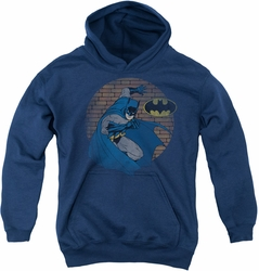 Batman youth teen hoodie In The Spotlight navy