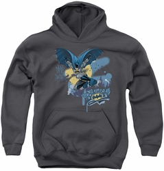 Batman youth teen hoodie Into The Night charcoal