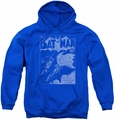 Batman youth teen hoodie Issue 1 Cover royal blue