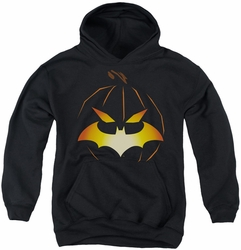 Batman youth teen hoodie Jack O'Bat black