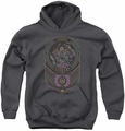 Joker youth teen hoodie Checkered Sign charcoal