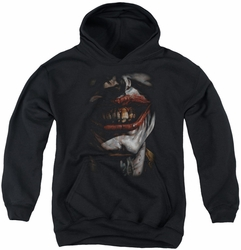 Joker youth teen hoodie Joker Smile Of Evil black