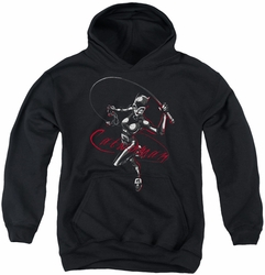 Catwoman youth teen hoodie Kitten With A Whip black