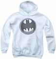 Batman youth teen hoodie Knight Knockout white