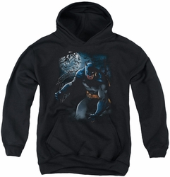 Batman youth teen hoodie Light Of The Moon black