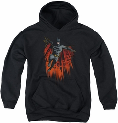 Batman youth teen hoodie Majestic black