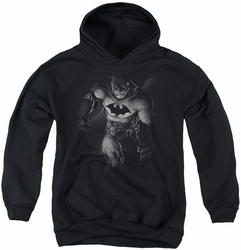 Batman youth teen hoodie Materialized black