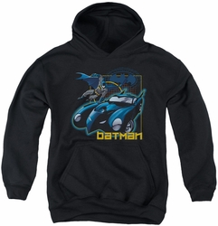 Batman youth teen hoodie Nice Wheels black