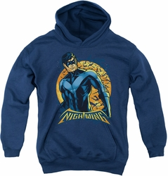 Nightwing youth teen hoodie Moon navy