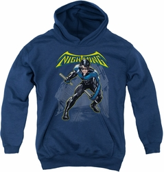 Batman youth teen hoodie Nightwing navy