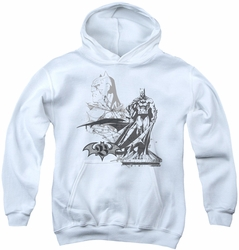 Batman youth teen hoodie Overseer white