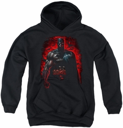 Batman youth teen hoodie Red Knight black