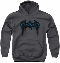 Batman youth teen hoodie Run Away charcoal