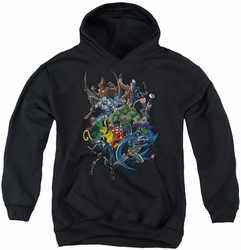 Batman youth teen hoodie Saints And Psychos black