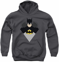 Batman youth teen hoodie Simple Bat charcoal