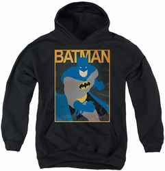 Batman youth teen hoodie Simple Poster black