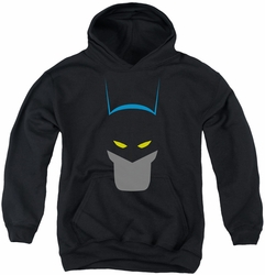 Batman youth teen hoodie Simplified black