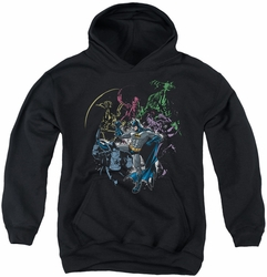Batman youth teen hoodie Surrounded black