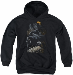 Batman youth teen hoodie Sweeping Cape black