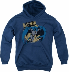 Batman youth teen hoodie Through The Night navy