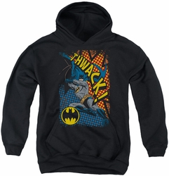 Batman youth teen hoodie Thwack black