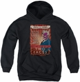 Two-Face youth teen hoodie Two Faces black