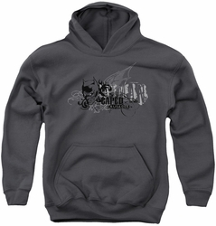 Batman youth teen hoodie Urban Crusader charcoal
