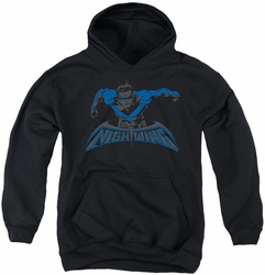 Nightwing youth teen hoodie Wing Of The Night black