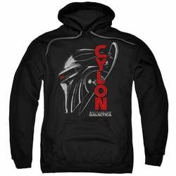 Battlestar Galactica pull-over hoodie Cylon Face adult Black