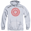 Battlestar Galactica pull-over hoodie Eroded Logo adult Athletic Heather
