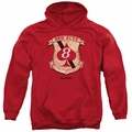 Battlestar Galactica pull-over hoodie Red Aces Badge adult Red
