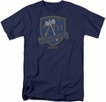 Battlestar Galactica t-shirt Battleaxe Badge mens Navy